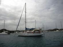 Chantier naval de Biot Langevin 43 : Mouillage en Martinique